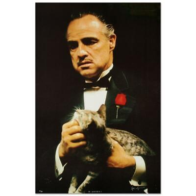 """Art Clearance Sale! Limited Edition """"The Godfather's Cat"""" by Steve Schapiro S/N"""