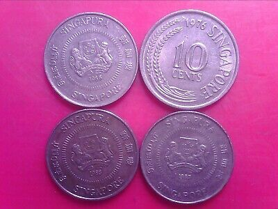 SINGAPORE   10    CENTS  1976   1986   1987   1988      APR24bb