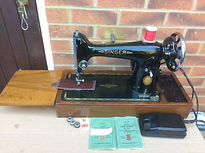 Beautiful Vintage Singer 201 Electric sewing machine FOR LEATHER