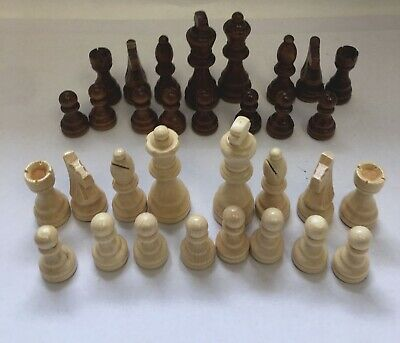 New Wood Chess Set 32 pieces -King 7.8cm (pieces only) Total Weight 160g. OF/2