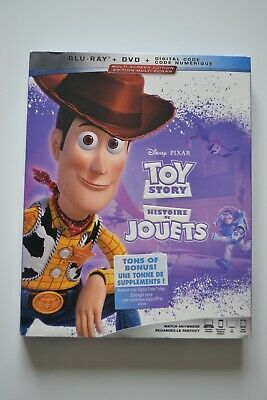 Toy Story (Blu-ray+DVD+Digital code, 2019) (Bilingual) with Slipcover