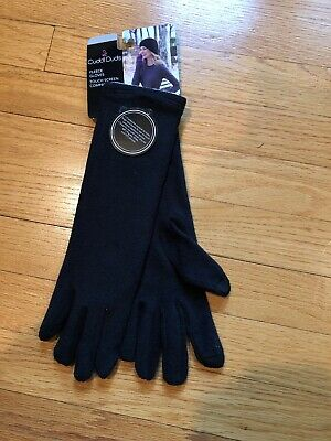 NEW Cuddl Duds Womens Size O/S Black Fleece Long Gloves With Touch Screen Tips