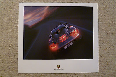 2004 Porsche Carrera GT Showroom Advertising Sales Poster RARE! Awesome L@@K