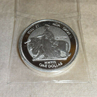 2 oz British Virgin Islands Silver Una & The Lion Frosted Coin Round