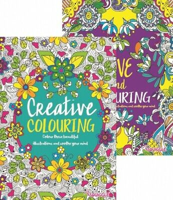MIND RELAXING COLOURING BOOK BOOKS Kids Stress Relief Colour Art Therapy Adult
