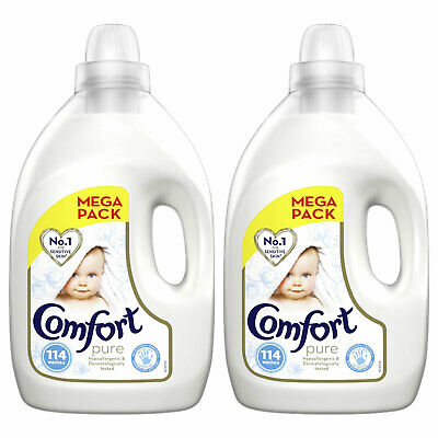 Comfort Softener Fabric Conditioner, Pure, Pack of 2, 114 Wash, 4L