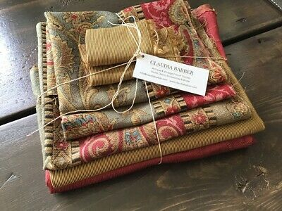 Antique French Silk Fabric 5+ piece pack bundles for projects  Sewing