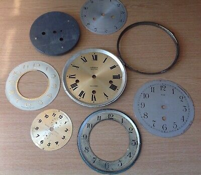 Antique Clock Dials Faces Bezels Door 110-200mm Clockmakers Spare Parts