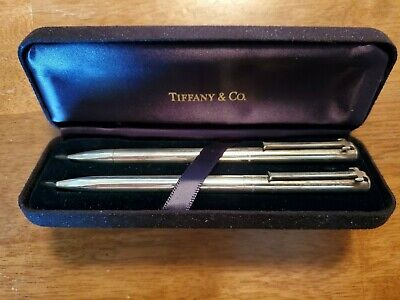 """Vintage Tiffany & Co. Pen and Pencil set; Sterling Silver; """"T"""" Clip  Old & Rare!"""