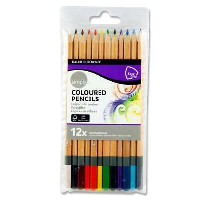 Daler Rowney Simply Pack of 12 Colour Sketch Pencils