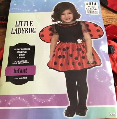 Little Ladybug Baby Toddlers Nature Fancy Dress Costume 12-24 months