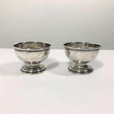 Pair of Tiffany & Co Sterling Salt Cellars 22692 Vintage Small Footed Bowls