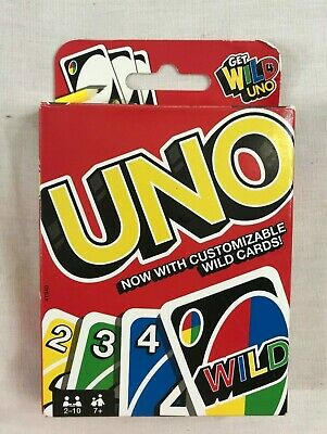 UNO Card Classic Game Incomplete Customizable Wild Card Matching Colors Numbers