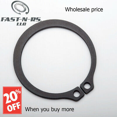 "External Retaining Ring / Snap Ring 8"" (Pack of 2) Black Phosphate Finish"