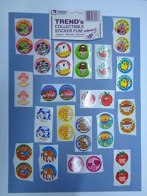 TREND 1989 Vintage  scratch 'n sniff stickers lot of 38 + bonus Stinky glossy !