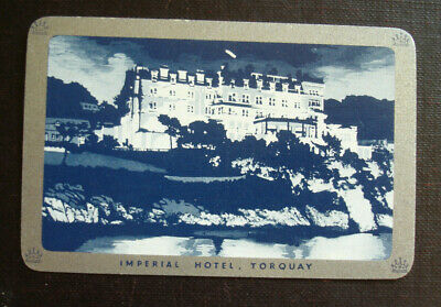 Single Playing Card. Imperial Hotel. Torquay.