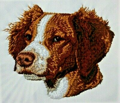 Brittany Spaniel Dog Breed Bathroom SET OF 2 HAND TOWELS EMBROIDERED