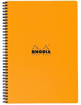 Rhodia Wirebound Notebook 8 1/4 x 11 3/4 Lined with Margin Orange