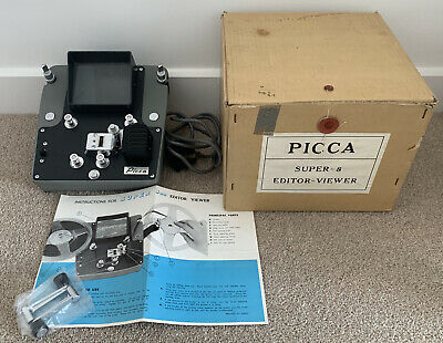 VINTAGE BOXED PICCA SUPER-8 8mm EDITOR VIEWER WITH INSTRUCTIONS VGC