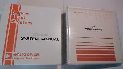 Analog Devices LTS-2000 Series Manuals and Disks 1983