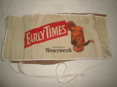 Vintage Early Times Whiskey The Pussycat Kentucky Bourbon Apron Promo Rare