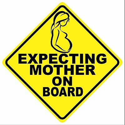 Expecting Mother On Board Decal - Free Shipping!!