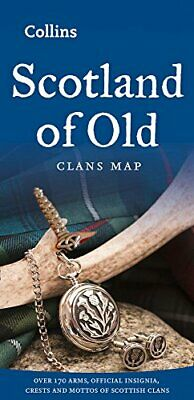 Scotland of Old: Clans Map of Scotland, Sheet map folded  by Collins Maps