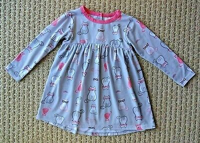 "NWT Tucker Tate Girl's Grey Long Sleeves Knit Dress ""NICE"" Size 18M $29 CPBR"