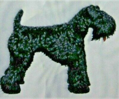 Kerry Blue Terrier Dog Breed Bathroom SET 2 HAND TOWELS EMBROIDERED Personalized