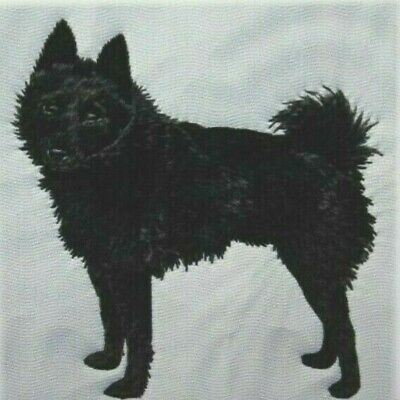 Schipperke Dog Bathroom SET 2 HAND TOWELS EMBROIDERED Personalized