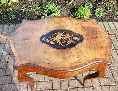 A superb Victorian Walnut and floral marquetry side table C1870