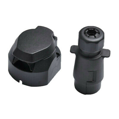 7 PIN 12V Trailer Connector Plug Socket Towing Wiring Fits For Caravans Trailers