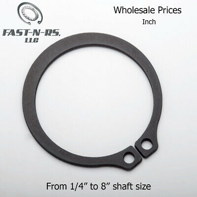 External Retaining Ring / Snap Ring Inch Sizes Wholesale Black Phosphate Finish