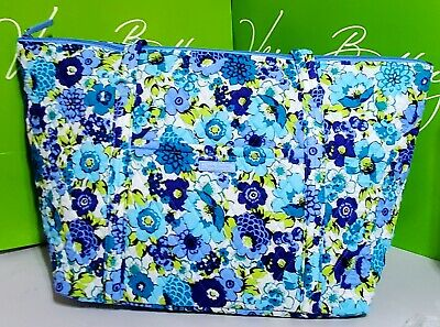 New Vera Bradley MILLER in retired BLUEBERRY Blooms  XL travel tote baby bag