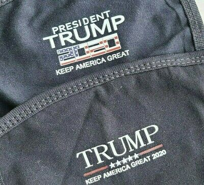 TWO Cotton Breathable Reusable Washable Trump MAGA Face Masks 2020 AmericaGreat