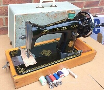 Vintage Singer 15K80 Hand crank sewing machine FOR LEATHER