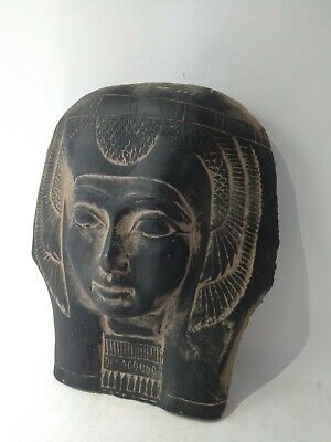 RARE ANTIQUE ANCIENT EGYPTIAN Queen Nefertari Mask Advisor Wif Ramses 1285 Bc