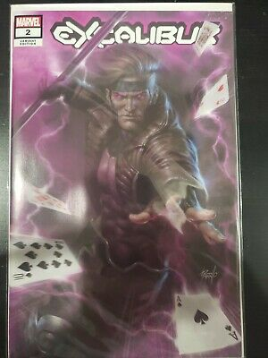 Excalibur #2 Lucio PARRILLO Exclusive Gambit VARIANT Marvel X-MEN NM