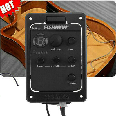 Fishman Presys+ 201 Acoustic Guitar Preamp Piezo Pickup 4-Band EQ Equalizer UK