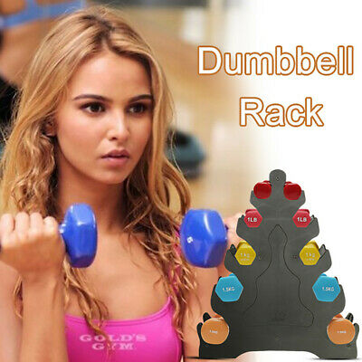 Portable Home 5 Tier Dumbbell Holder Home Gym Exercise Training Weight Tower