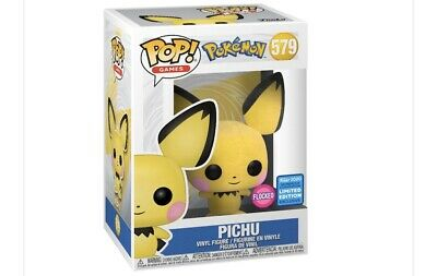 FUNKO POP! Pokemon Flocked 579 Pichu 2020 Wondercon Exclusive Ready To Ship New