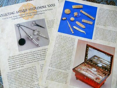 16p History Article + Pics -   Antique Needlework Sewing Tools