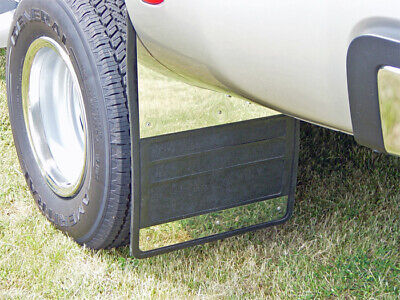 Owens Mud Flaps Classic Dually Rubber/Stainless Insert For 07-18 3500