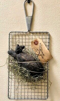 Primitive/Farmhouse Country Mouse on Grater Wall Decor Prim Tag FREE SHIPPING