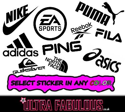 "Ultra Fabulous - ""Sport Brands Stickers"" All Colors"
