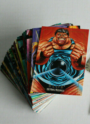 1992 Skybox ~Marvel Masterpieces ~ Complete Base Set ~ 100 Cards