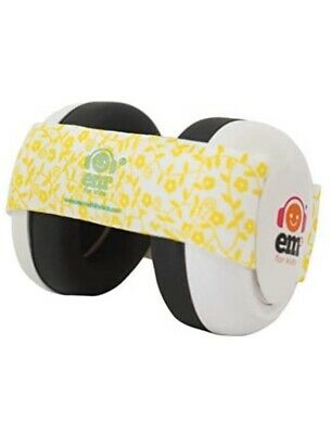 Ems For Kids White With Yellow Floral Baby Earmuffs