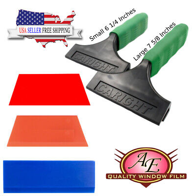 Large and Small Squeegees with 3 replacement blades (Soft, Med. and Hard)