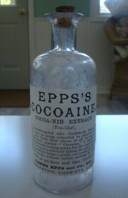 Vintage Epps's Cocoaine Medicine Repro Bottle- Homeopathic Chemists, - Empty