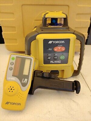 Topcon RL-H4C Rechargeable Rotary Laser Level with LS-80A Receiver - 25